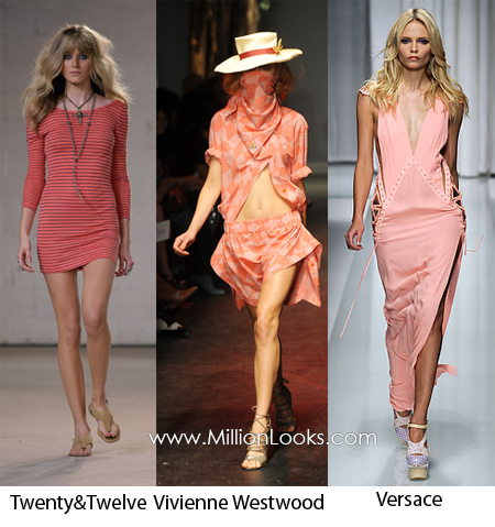 coral color trend spring summer 2010