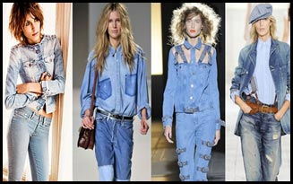 Double denim fashion