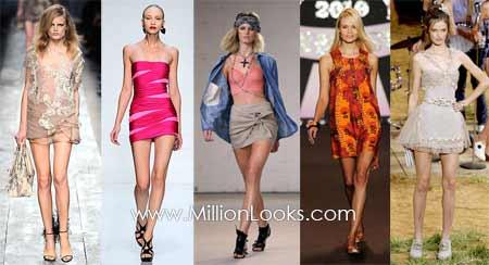 Mini skirts hot summer trend