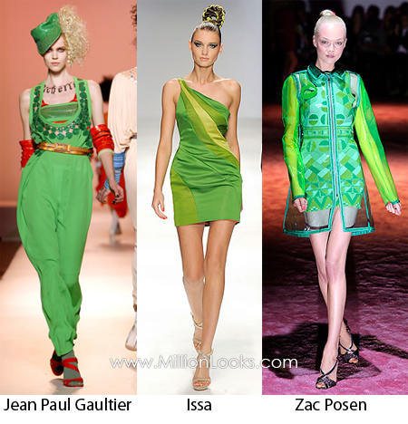 neon green color trends spring summer 2010