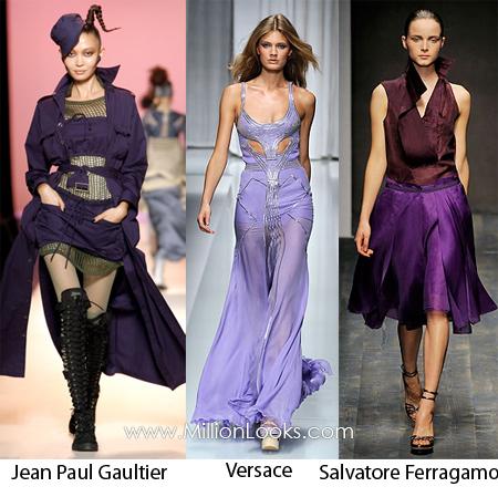 violet color trend spring summer 2010