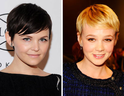 Pretty Pixie Haircut. Notice how Ginnifer Goodwin and Carey Mulligan draw